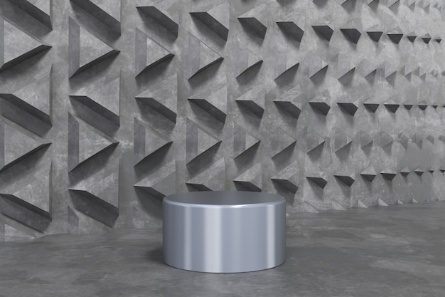 3d render abstract background empty podium, pedestal, scene