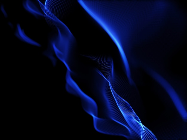3d render of an abstract background with cyber flowing particles