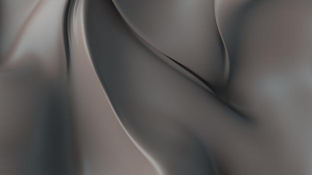 エレガントな変形した布片で抽象的な背景を3dレンダリングします。カール、ねじれ、影、折り目が付いた滑らかな生地。