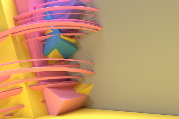 3d render abstract background with space of your text. digital 3d illustration design.