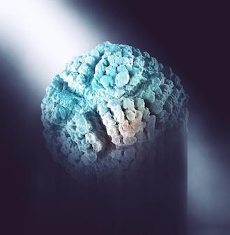3d render of an abstract background with virus cell