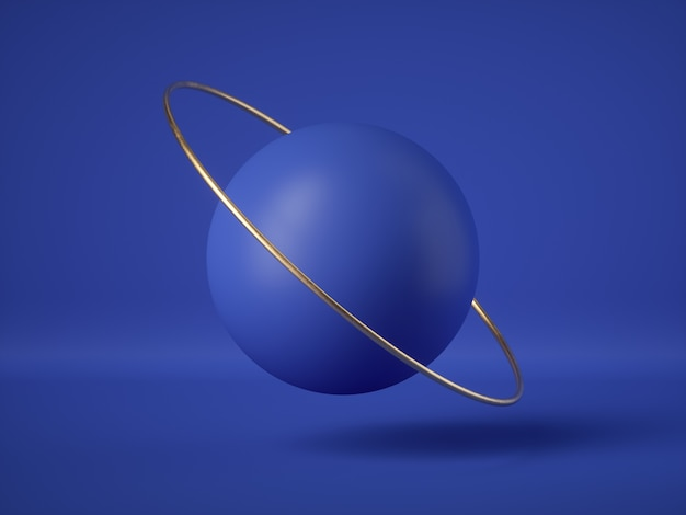 3d render of abstract blue futuristic floating balls, levitating objects