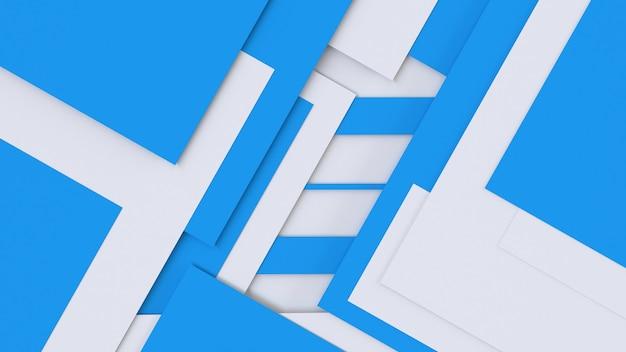 3dレンダリング抽象的な青白の幾何学的な背景