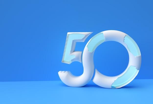 3d визуализации абстрактные сломанные номер 25 баннер дизайн 3d иллюстрации.