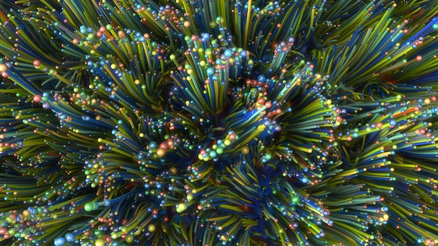 3d визуализация. абстрактный красочный фон иллюстрации