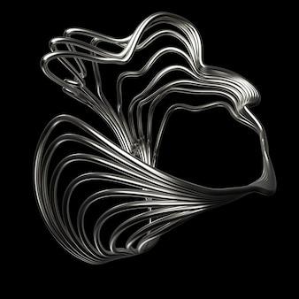 3d визуализация абстрактная фигура. структура из повторяющихся элементов с шероховатым материалом.