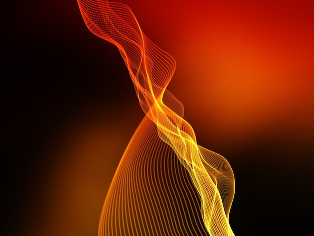 3d render of an abstract flowing lines techno background