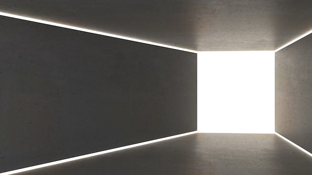 3d render abstract lighting in rectangle shape