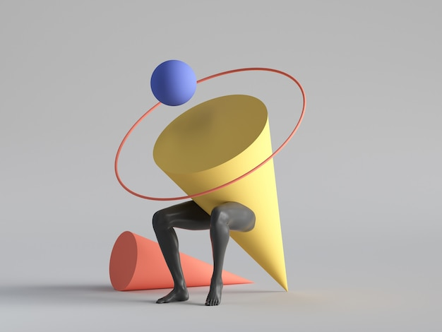 3d render, abstract minimal surreal contemporary art.