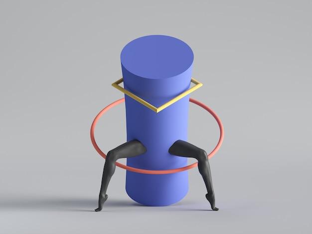 3d визуализация, абстрактное минимальное сюрреалистическое современное искусство.