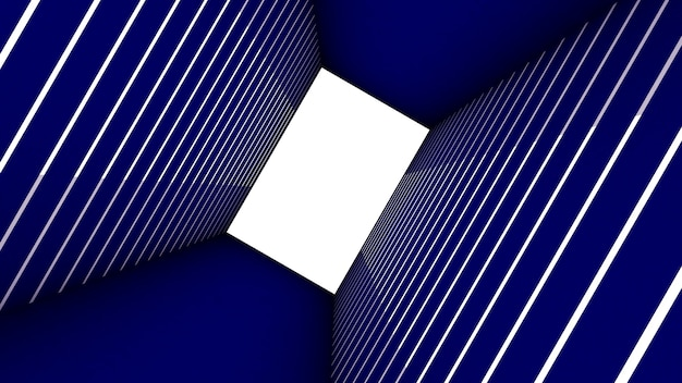3d render of abstract rectangle shape in tunnel background