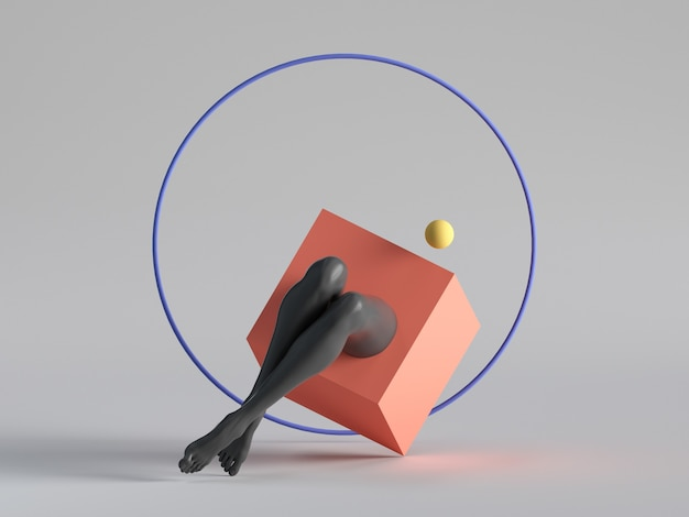 3d render, abstract surreal contemporary art.