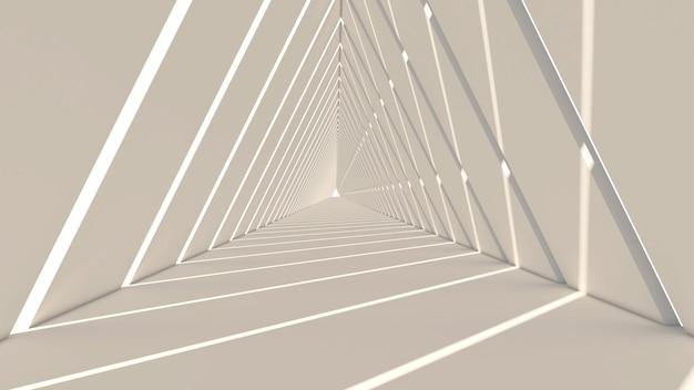3d render of abstract triangle shape in white background