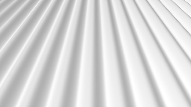 3dレンダリング抽象的な白い柔らかい線の背景
