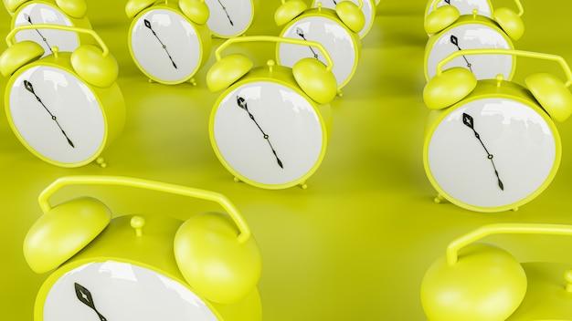 3d render alarm clock background