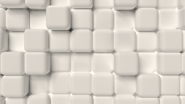 3d render background of soft cubic white shapes