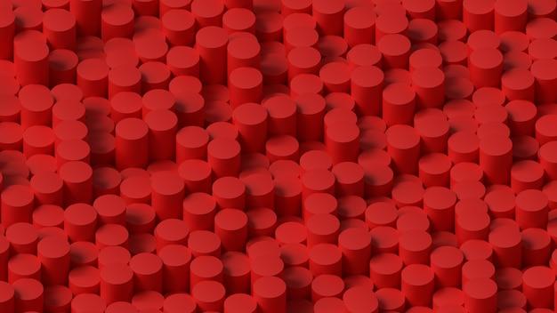 3d визуализация фон обои узор из красных цилиндров мягкое освещение