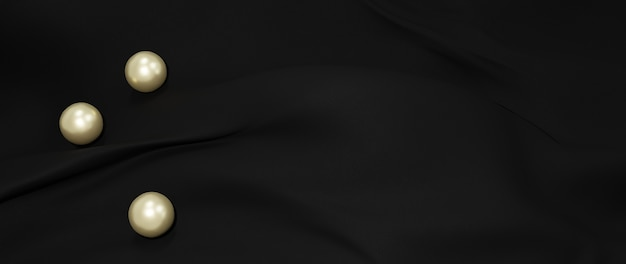 3d render of black cloth. abstract art fashion background.
