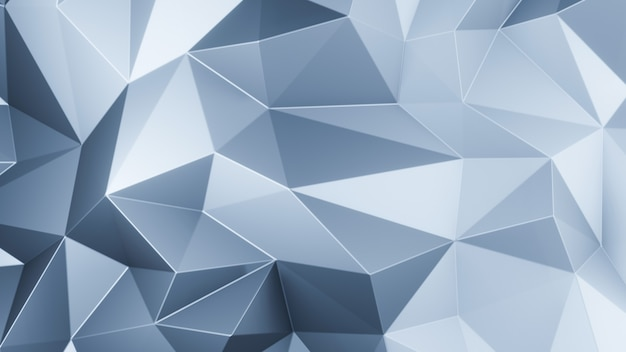 3d render blue triangle polygons abstract mosaic background