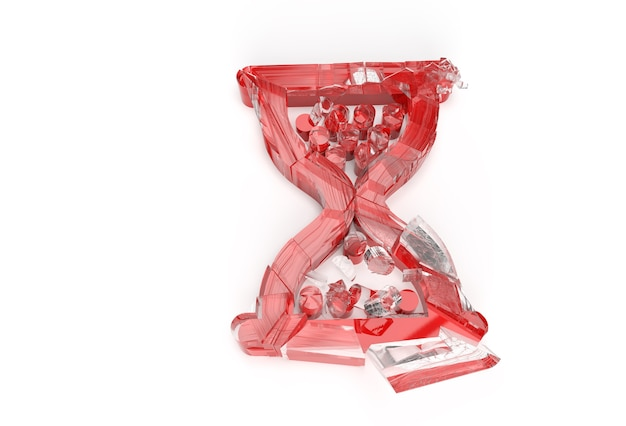 3d визуализации сломанный символ мыши песочные часы с абстрактной 3d иллюстрации.