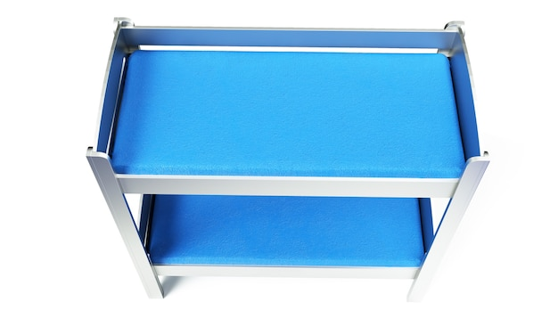 3d render of bunk bed on a white background