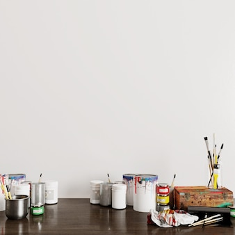 3d render of a can with paint