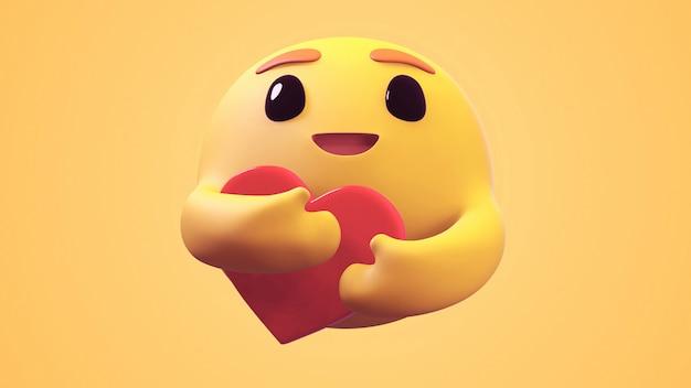 3d визуализация care emoji