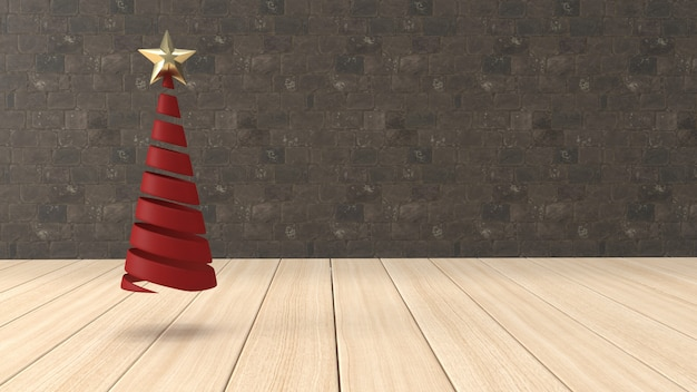 3d render christmas background for greeting card