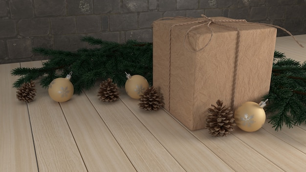 3d render christmas background