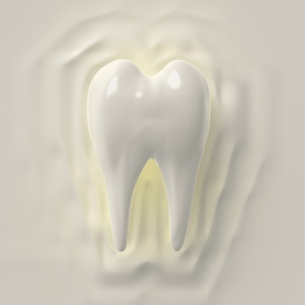 3d render clean tooth, whitening