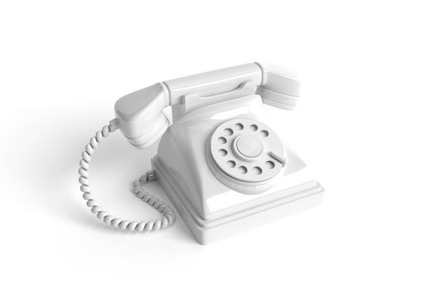 오래 된 전화의 3d 렌더링 개념 3d 아트 디자인 일러스트 레이 션.