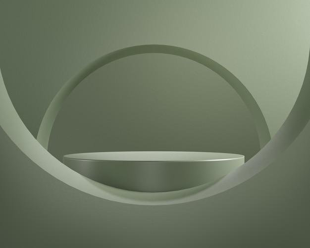 3dレンダリングクロコダイルカラー表彰台、抽象的な背景、ブランド製品展示会用の台座。
