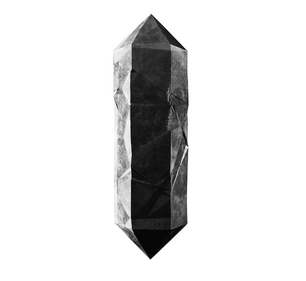 3dレンダリング、白い背景に分離されたクリスタル、宝石、天然ナゲット、難解なアクセサリー