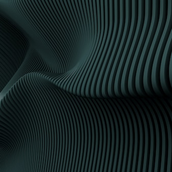 3d render of dark abstract parametric pattern.