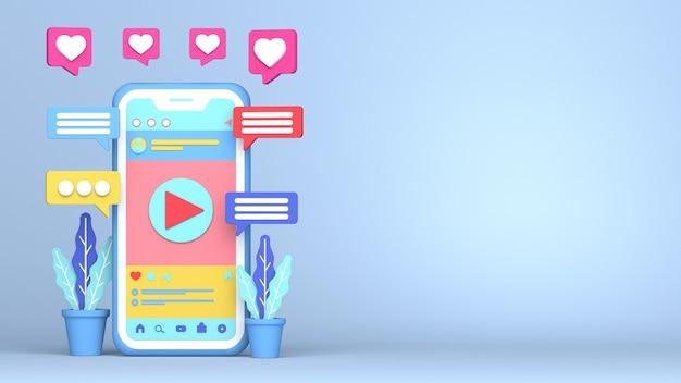 3d render design for instagram video