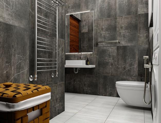 3d визуализация дизайн интерьера ванной комнаты