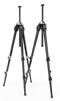 3d визуализация подробные штативы камеры на белом фоне