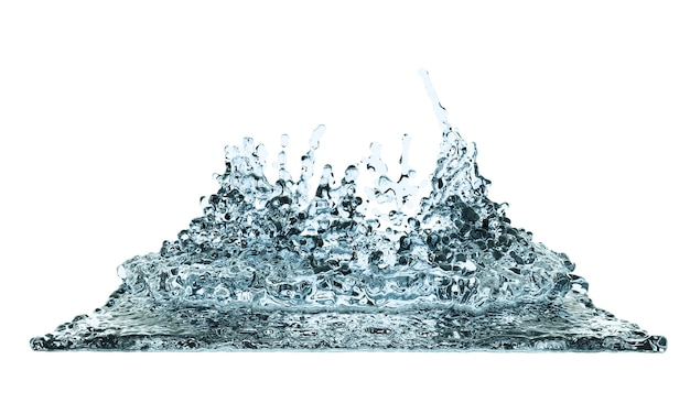 3d 세우다 디지털 삽화 물 맑은 튀김 액체 웨이브 루프 매력적인 선