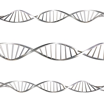 3d render of dna strands