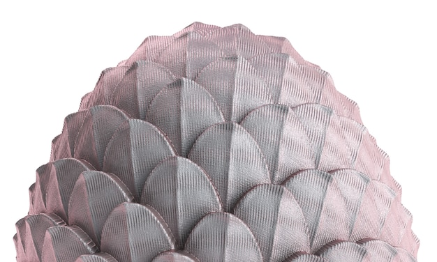 3d визуализации яйцо дракона на белом фоне. иллюстрация пасхального яйца fanstasy