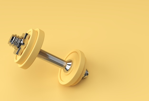 3dレンダリングダンベルセット、現実的な詳細なクローズアップビューフィットネスダンベルデザインの孤立したスポーツ要素。