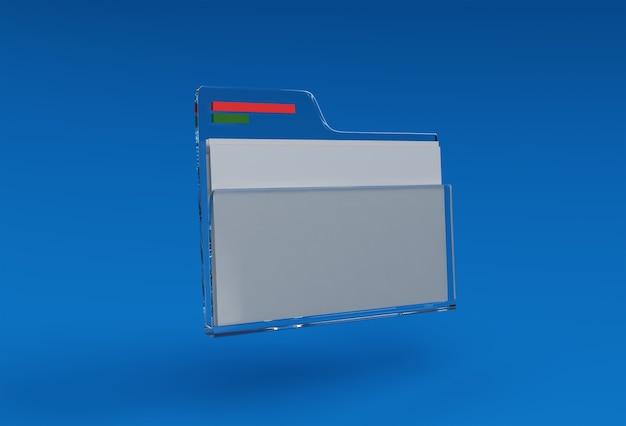 3d render file folder 3d art design illustration.