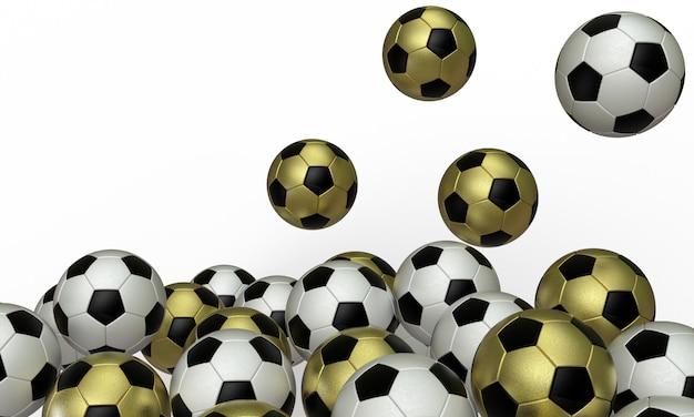 3d render football object