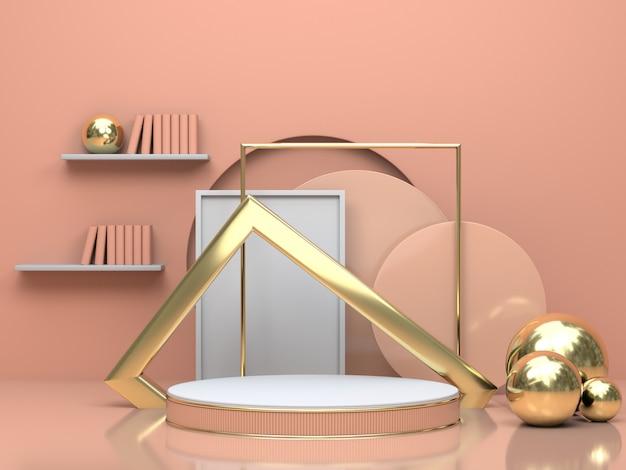 3d render geometric mockup