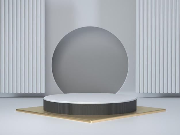3d визуализации геометрических подиум белый 3d подиум витрина для продукта