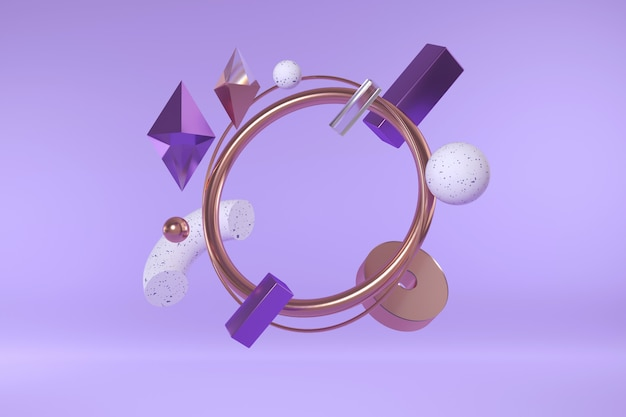 3d render of geometric shapes. modern abstract composition of simple shapes.