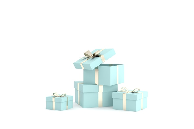3d render of gift boxes
