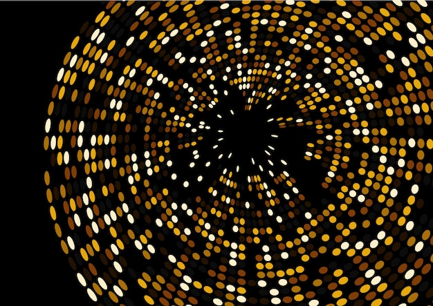 3d render gold glitter wave abstract design isolated on black background