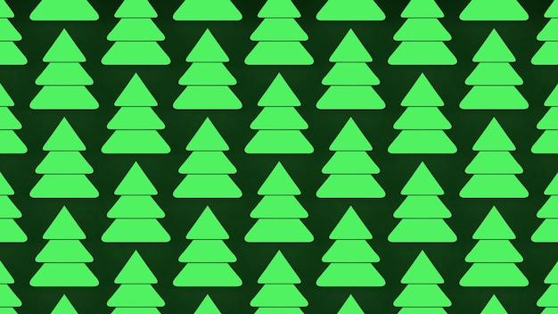 3dレンダリング緑のクリスマスツリーアイコン