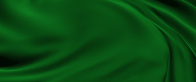 3d render of green cloth. iridescent holographic foil. abstract art fashion background.